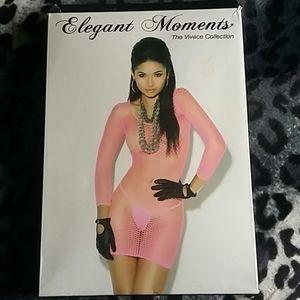 Elegant Moments Mini Dress-Pink